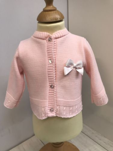 Cardigan with Chest Bow Detail
